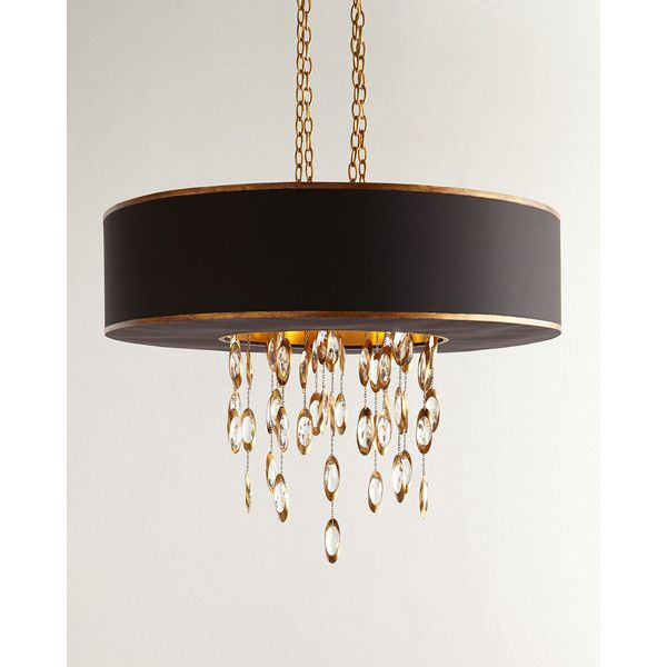 John-Richard Collection Black Tie 11-Light Chandelier (3,465 CAD) ❤ liked on Polyvore featuring home, lighting, ceiling lights, black, john richard chandeliers, black chandelier light, john richard lamps, black shade and handmade lamps