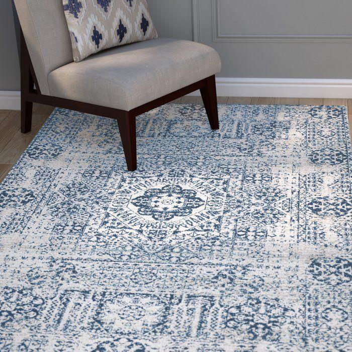 Huma Persian Inspired Blue Ivory Area Rug Area Room Rugs Area