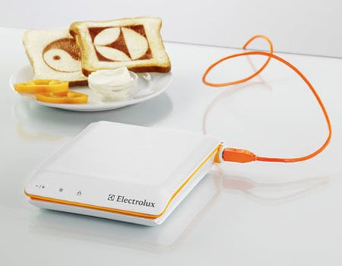 a bread toast printer concept by electrolux. interesting concept only
