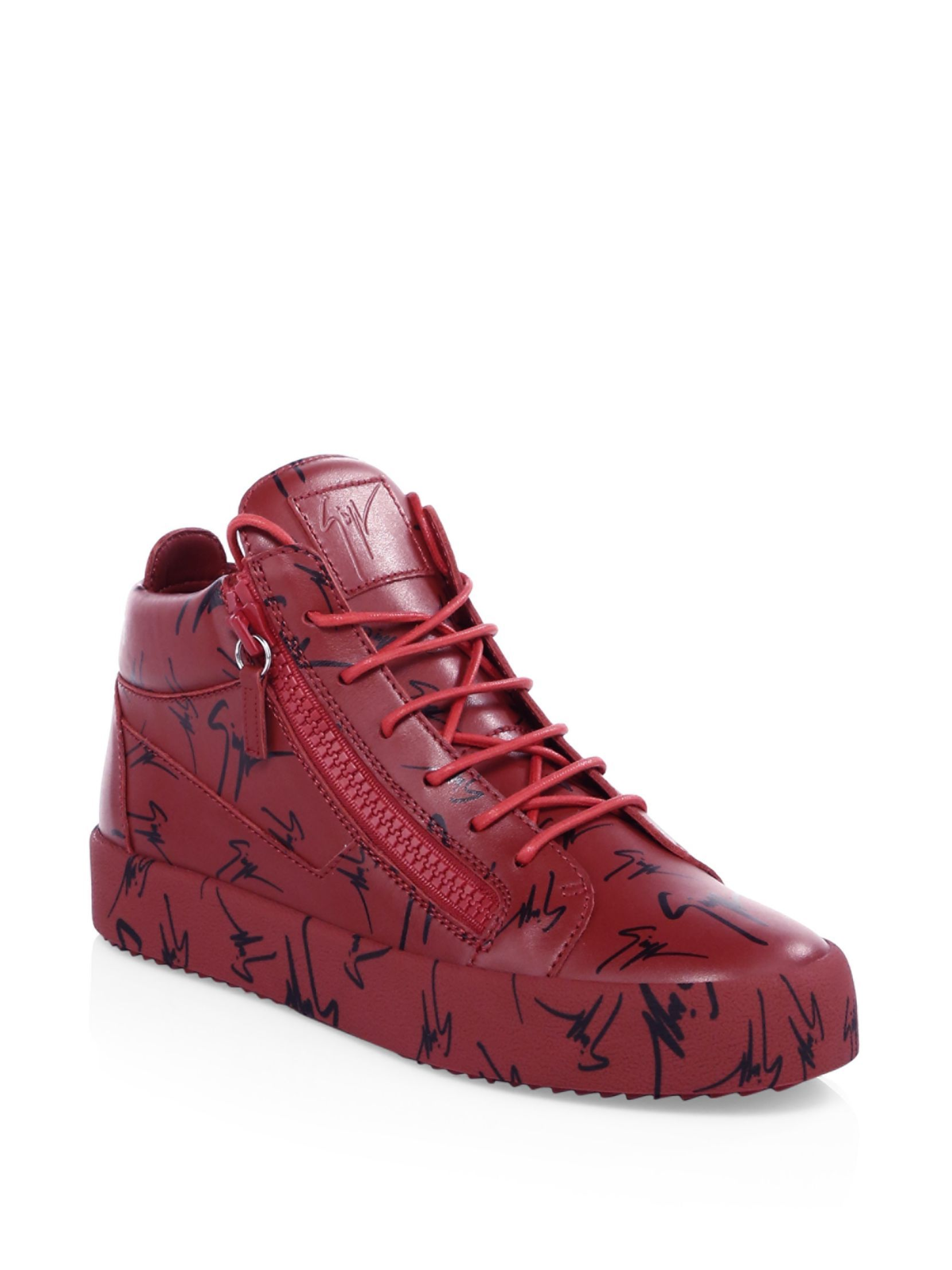 3435c9998dce Giuseppe Zanotti Logo Leather Platform Sneakers Platform Sneakers