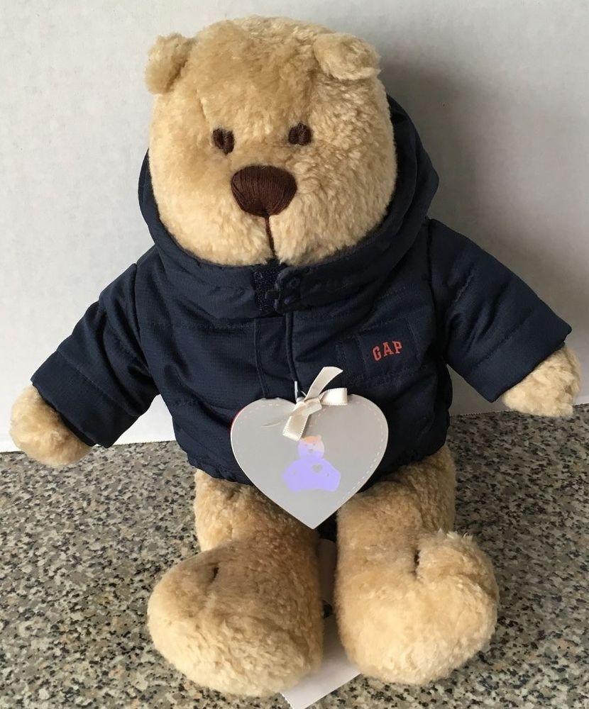 37edb60bf6cf Baby Gap Teddy Bear With Navy Coat Jacket Teddy Bear Face 13