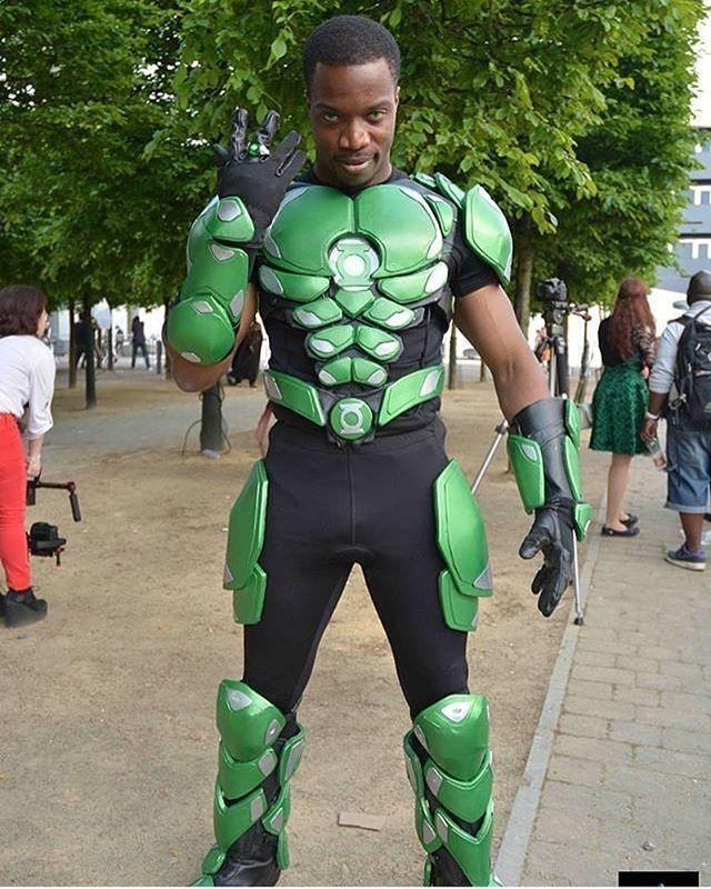 @bfortunas in his legendary green Lantern cosplay ...
