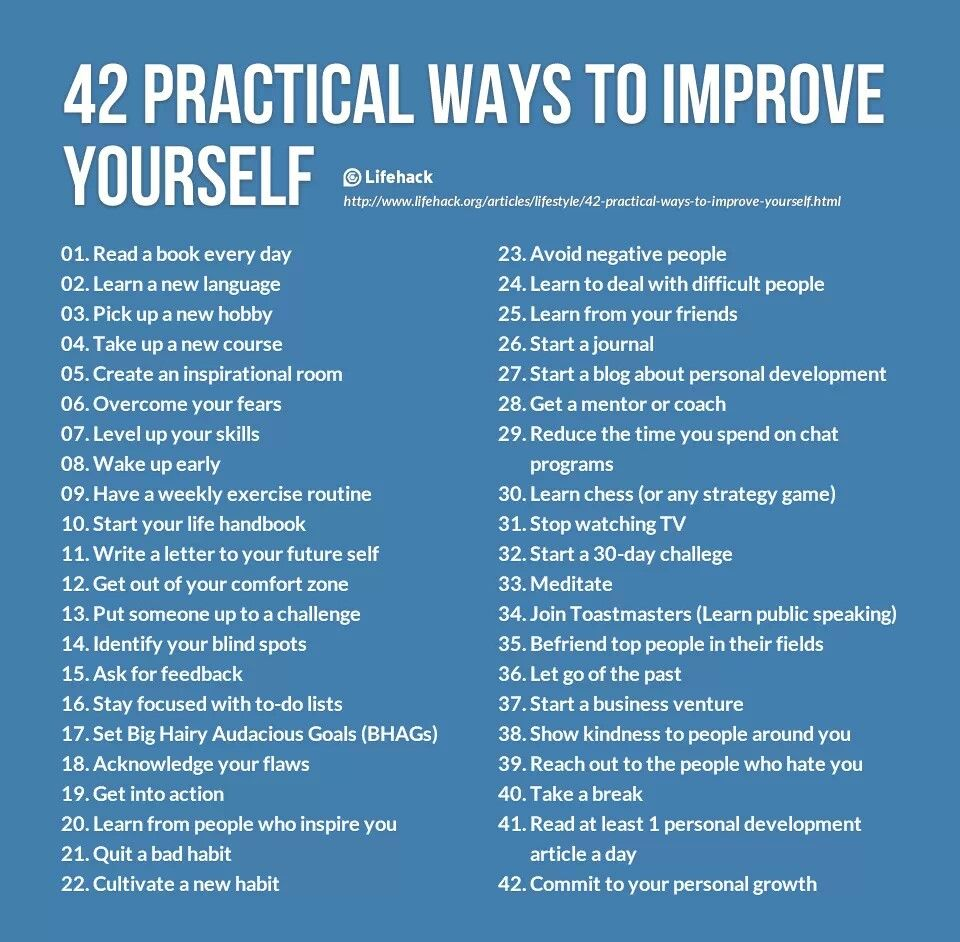 Ways to Improve Yourself Self improvement, Self help