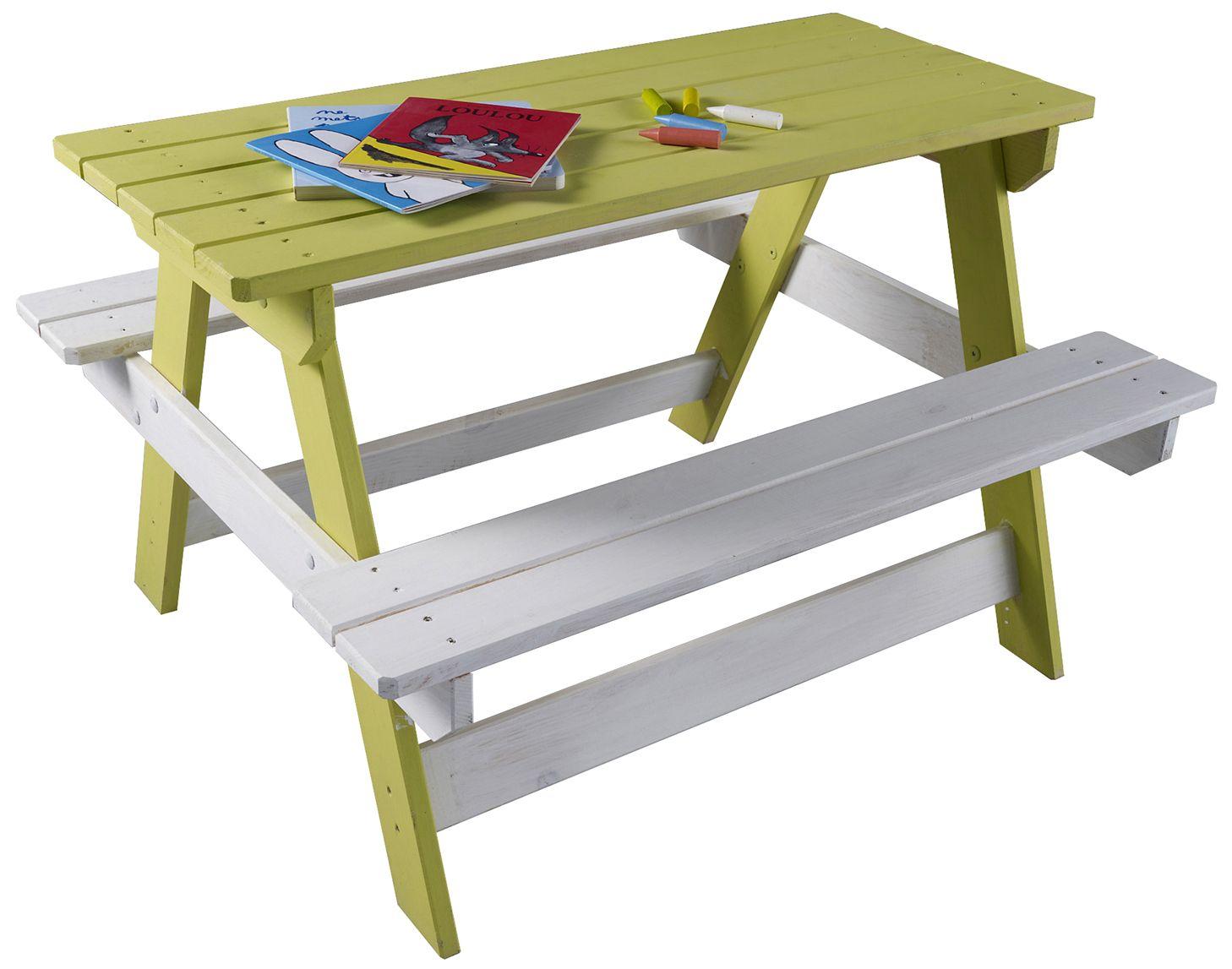 table pique nique enfant en bois rockall 85 x 75 cm castorama piquer et table. Black Bedroom Furniture Sets. Home Design Ideas