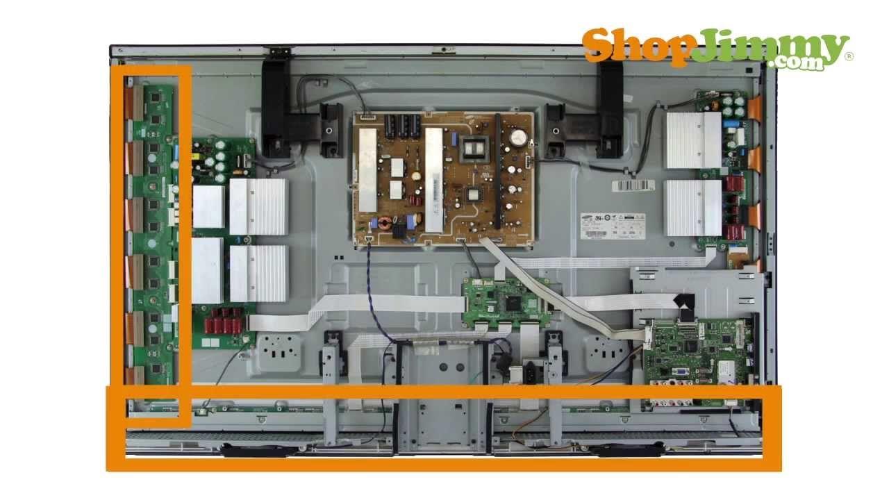 Samsung Plasma Tv Repair Tutorial Identifying Samsung Plasma Tv Parts Plasma Plasma Tv Circuit Diagram