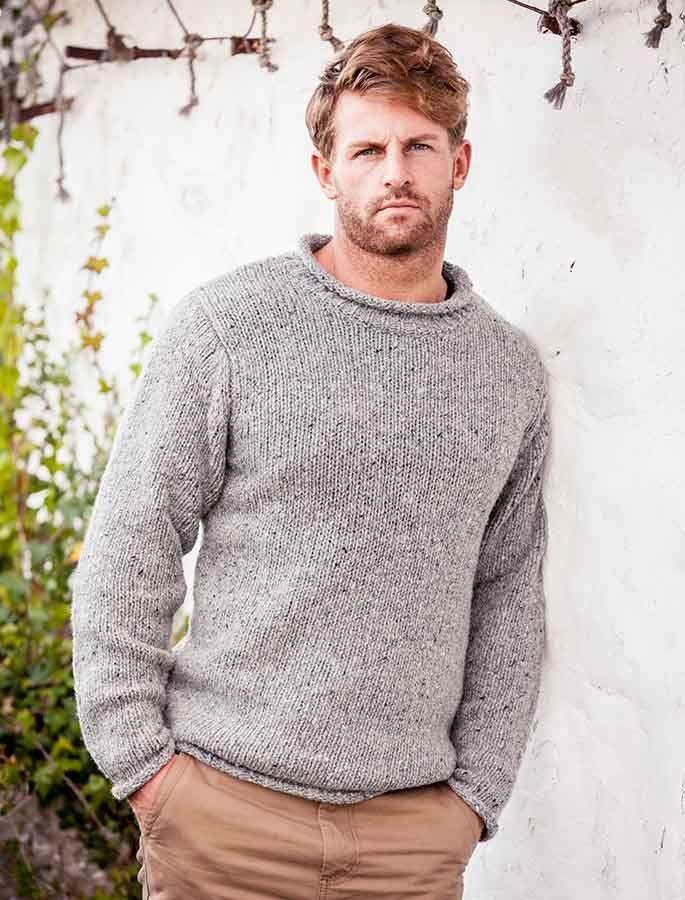 Roll Neck Sweater - Fisherman Sweater | Stricken häkeln, Stricken ...