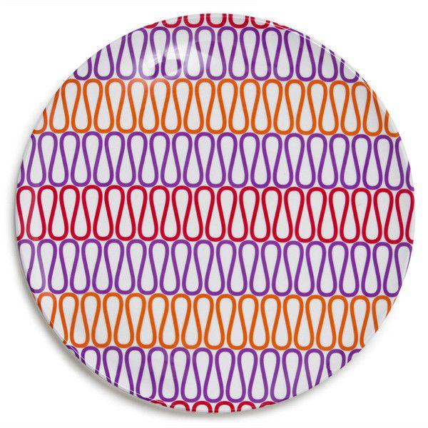 Jonathan Adler Melamine Loop Dinner Plate (170 MXN) ❤ liked on ...