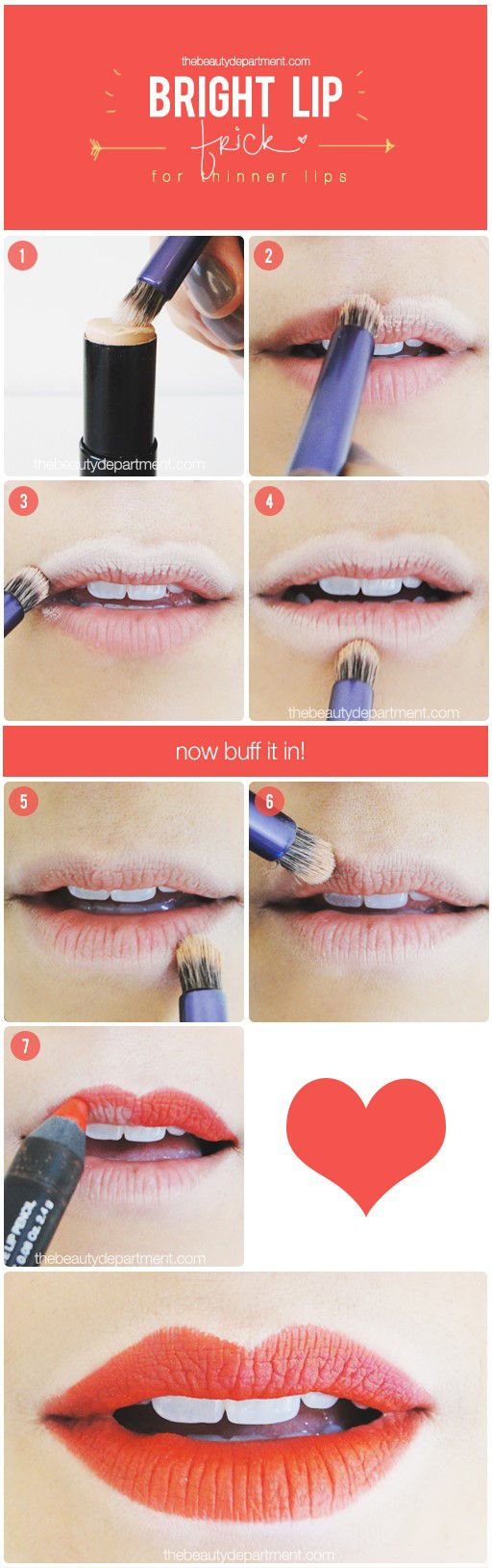 HOW TO WEAR BRIGHT LIPSTICK ON THINNER LIPS  Lipstick tutorial