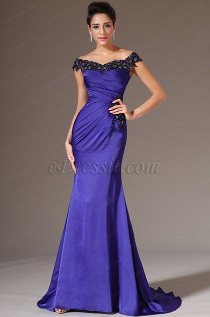 eDressit 2014 New Off-Shoulder Sheath Evening Gown (02143605) #edressit #fashion #dresses #eveningdresse #offshouldergowns #purpleeveninggowns #promdresses