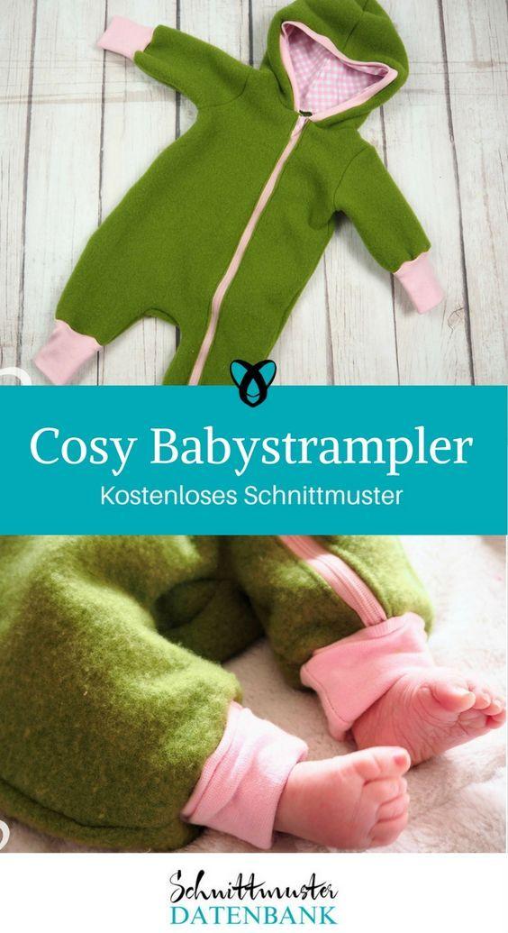 Cosy Babystrampler 4.67/5 (3) | Pinterest | Schnittmuster kostenlos ...
