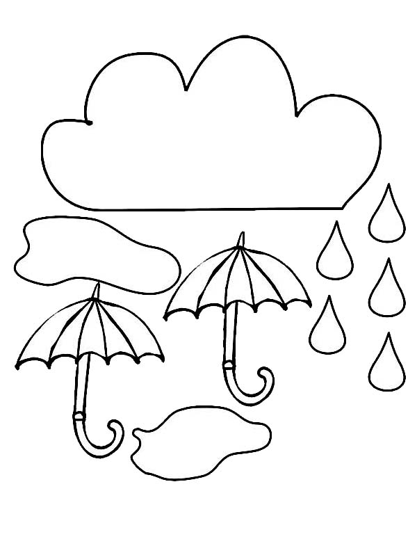 Cloud And Umbrella And Raindrop Coloring Page Color Luna Coloring Pages Free Printable Coloring Pages Free Coloring Pages