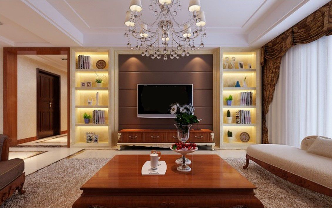 Furniture wonderful wall cabinet design ideas for tv for Family room tv wall ideas