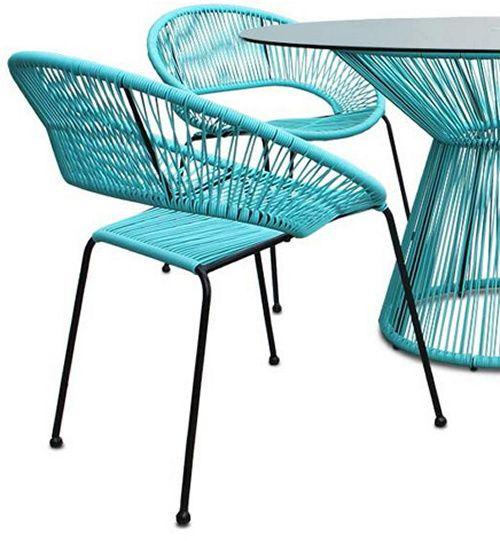 Harmonia Living Acapulco Dining Chair Set Of 2 Dining Chair Set Dining Chairs Outdoor Dining Chairs