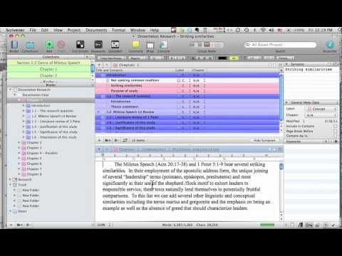 Scrivener Feature For Phd Advice Blog Youtube Dissertation Writing Software Mac