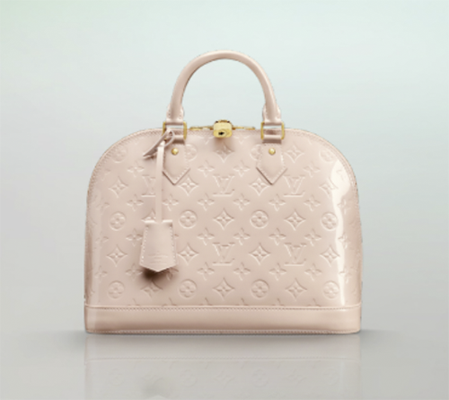 Louis Vuitton Alma Pale Pink Patent Leather Tote #resort #vacation ...
