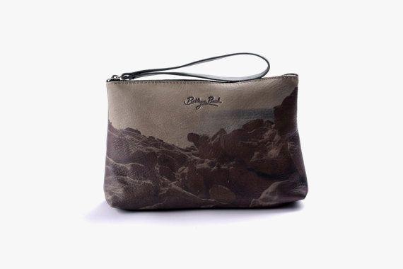 Printed Leather Hand Made Clutch Bag by BottegaBash on Etsy, $140.00