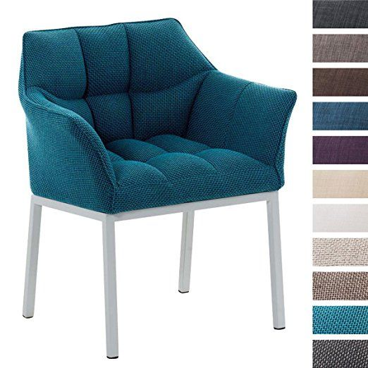 CLP Lounge-Sessel OCTAVIA W, 4 Beine weiß, Stoff-Bezug, mit Armlehne ...
