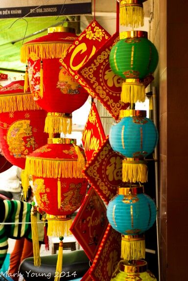 Decorations fot Têt, the Vietnamese Lunar New Year, just ...