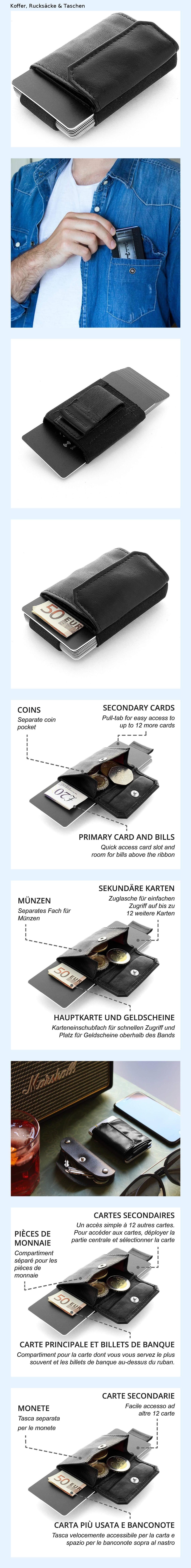 60bca2be438e6 JAIMIE JACOBS Minimalist Wallet Nano Boy Pocket Mini Wallet ...