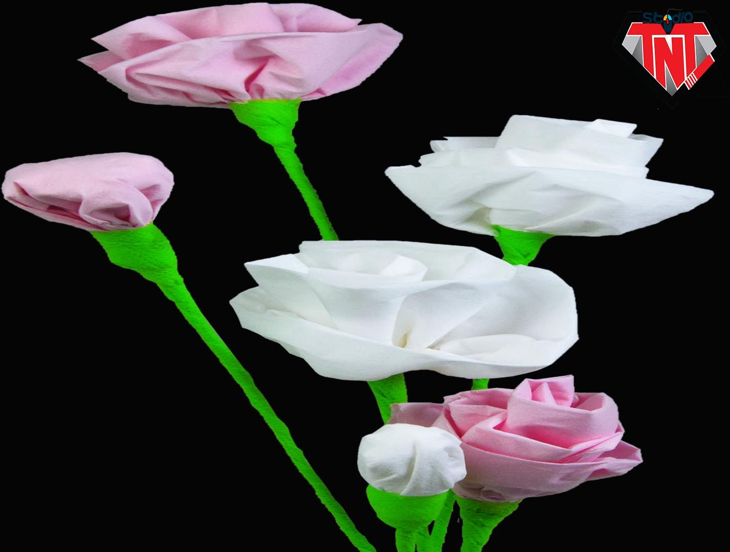 Imgenes De How To Make Rose Out Of Tissue Paper