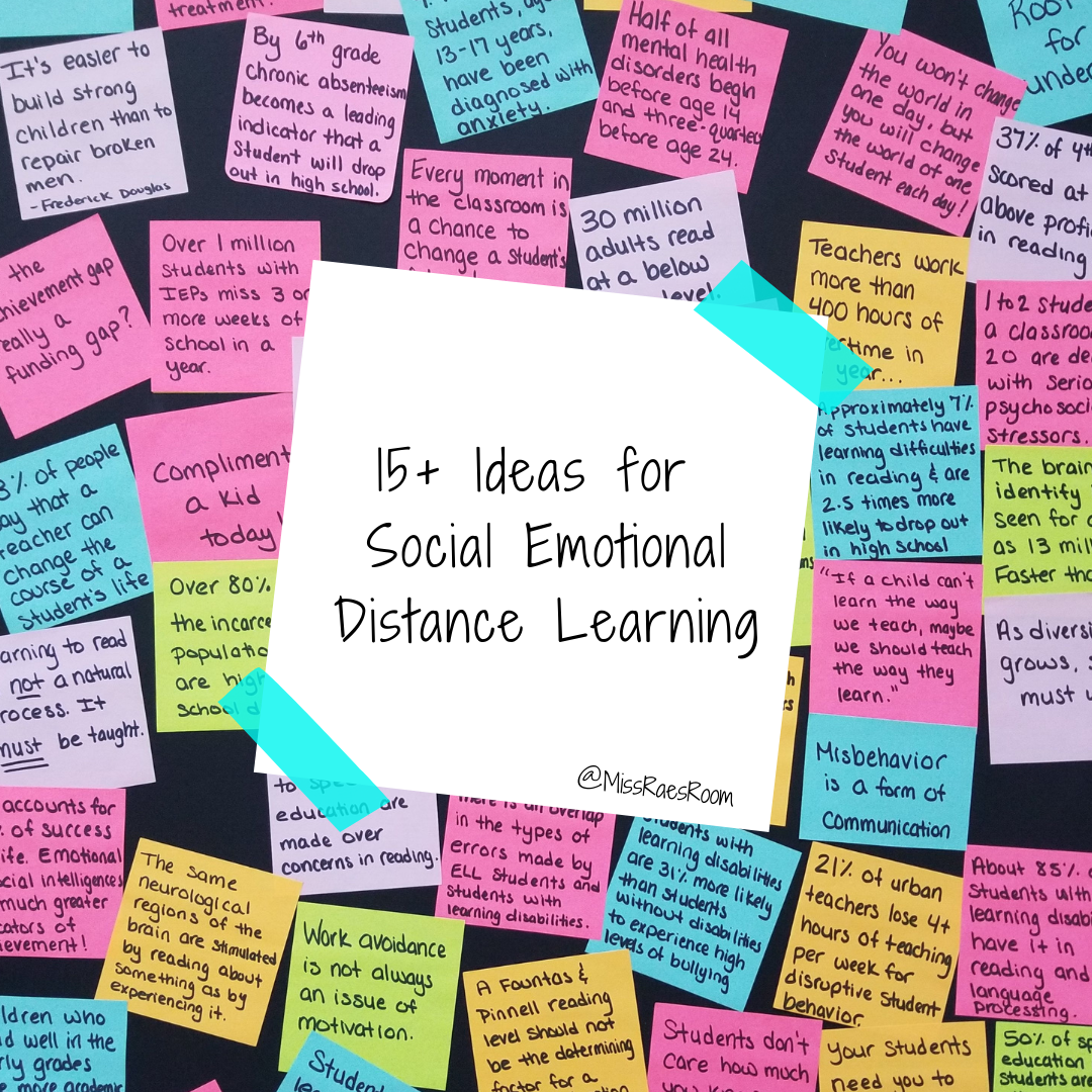 15 Ideas For Social Emotional Distance Learning Social Emotional Learning Activities Social Emotional Activities Social Emotional Skills