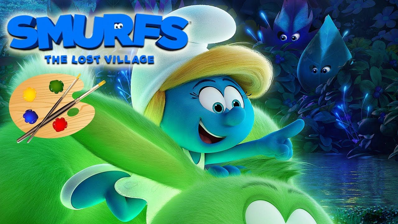 The Smurfs Lost Village Movie - Kids Coloring Book | Coloring Pages ...