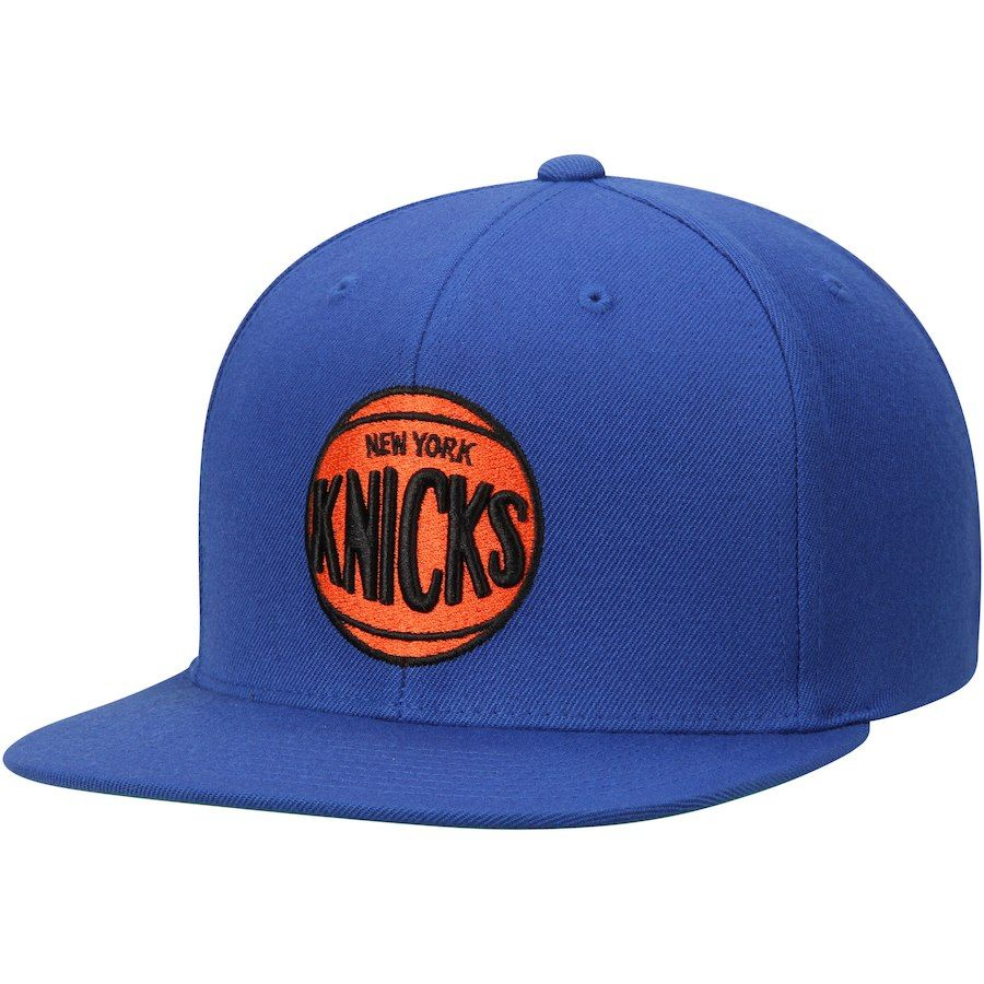 best website 6ef8f 9ad89 Men s New York Knicks Mitchell   Ness Blue Hardwood Classics Wool Solid 2 Adjustable  Hat,  29.99