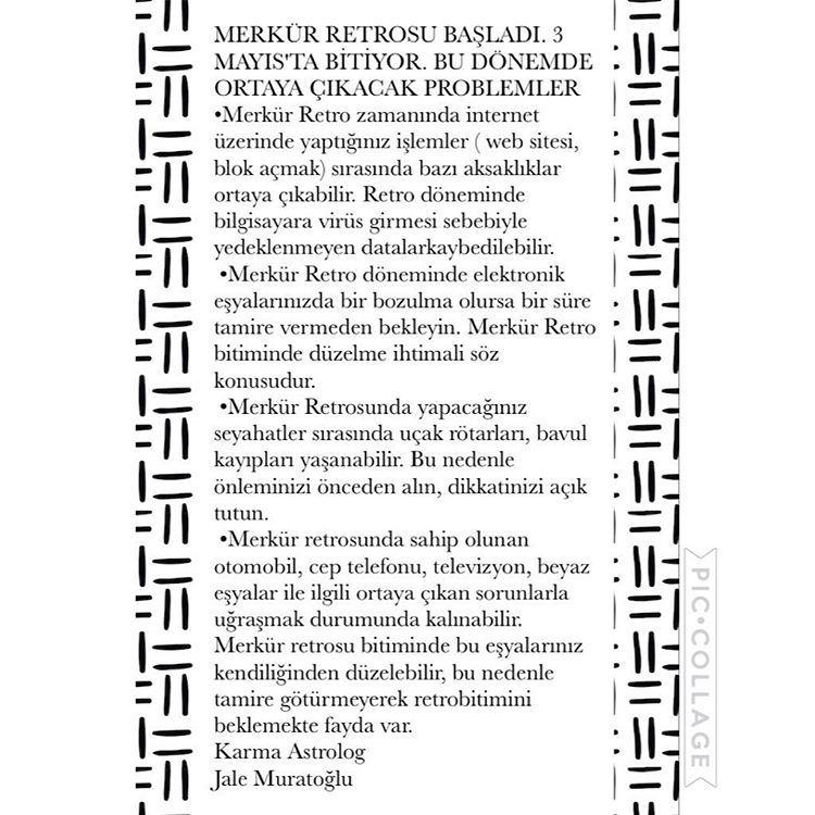 """47 Beğenme, 2 Yorum - Instagram'da Jale Muratoğlu (@astrologjalemuratoglu): """"AMAN DİKKAT MERKÜR RETROSU BAŞLADI!! #zodyak #horoskop #gokyuzu #astroloji #koç #boga #ikizler…"""""""