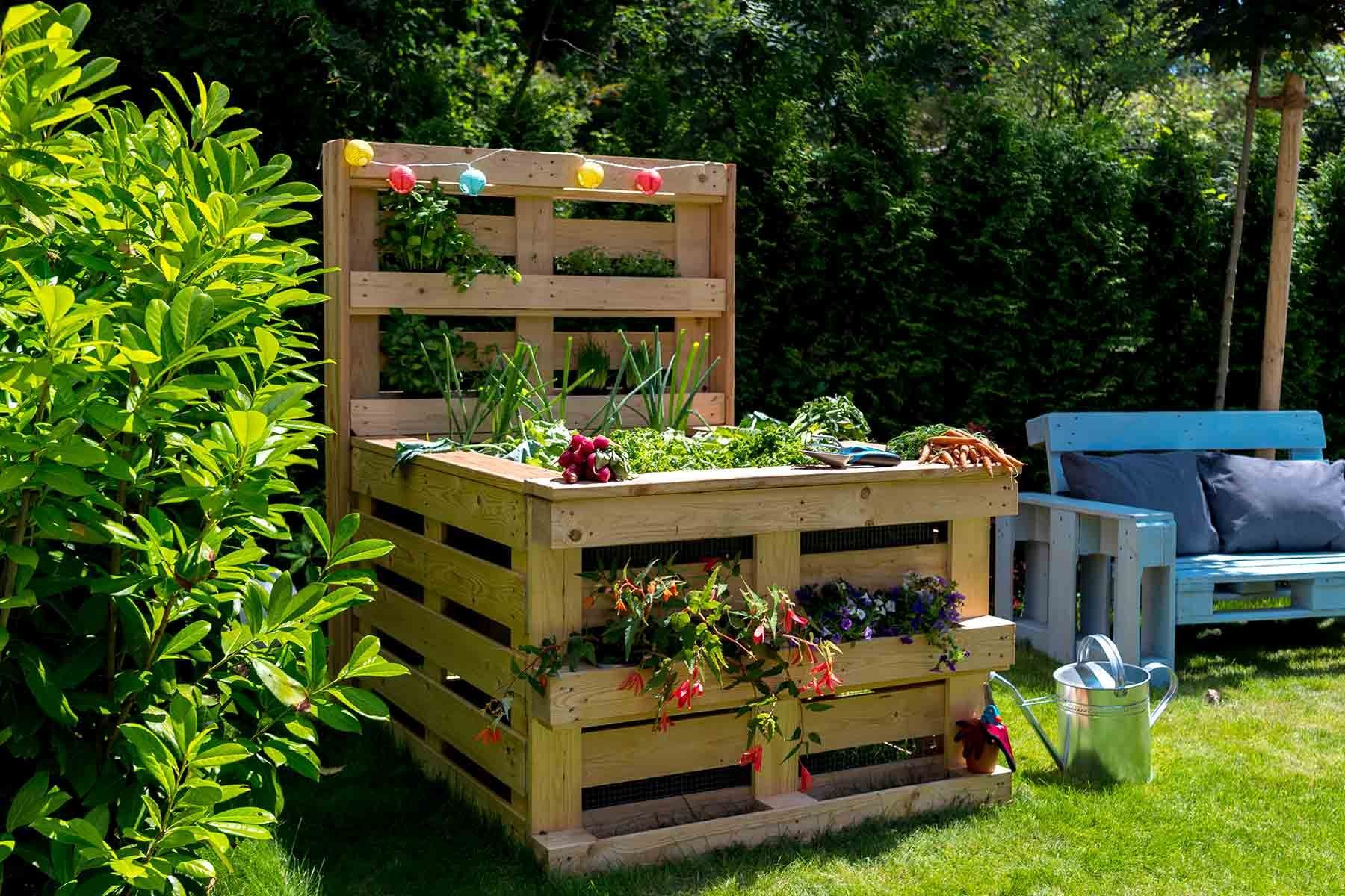 Build Pallet Raised Bed Yourself All Furniture Create By Obi In 2020 Pallet Projects Garden Pallet Garden Furniture Pallet Furniture Outdoor