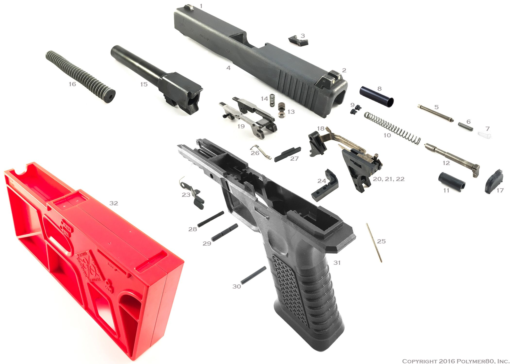 Polymer 80 glock 80 pistol kit includes jig tools ez to build polymer 80 glock 80 pistol kit includes jig tools ez to build super hot fandeluxe Choice Image