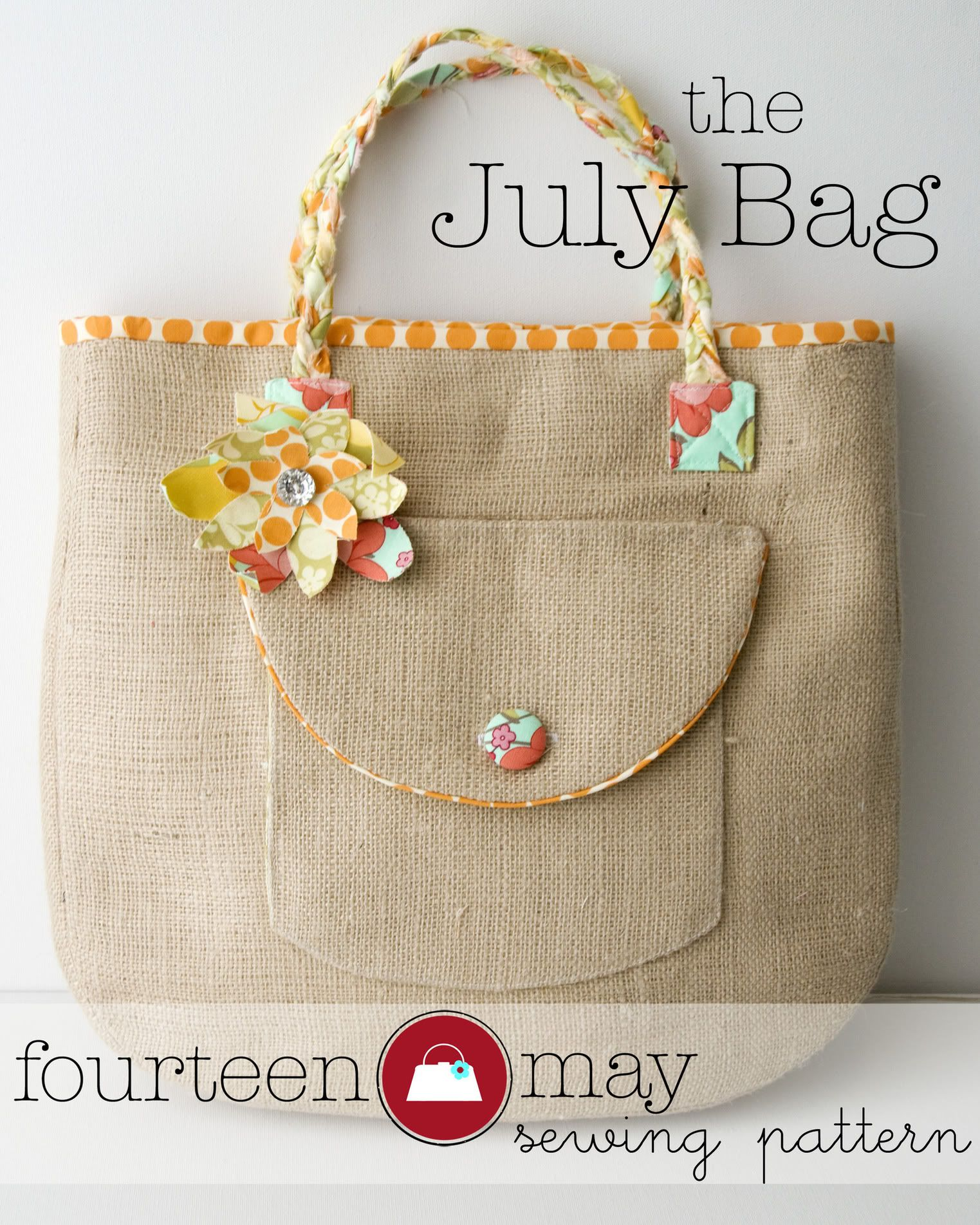 Introducing the July Bag! Plus...Fabric Flower tutorial - | Diy ...