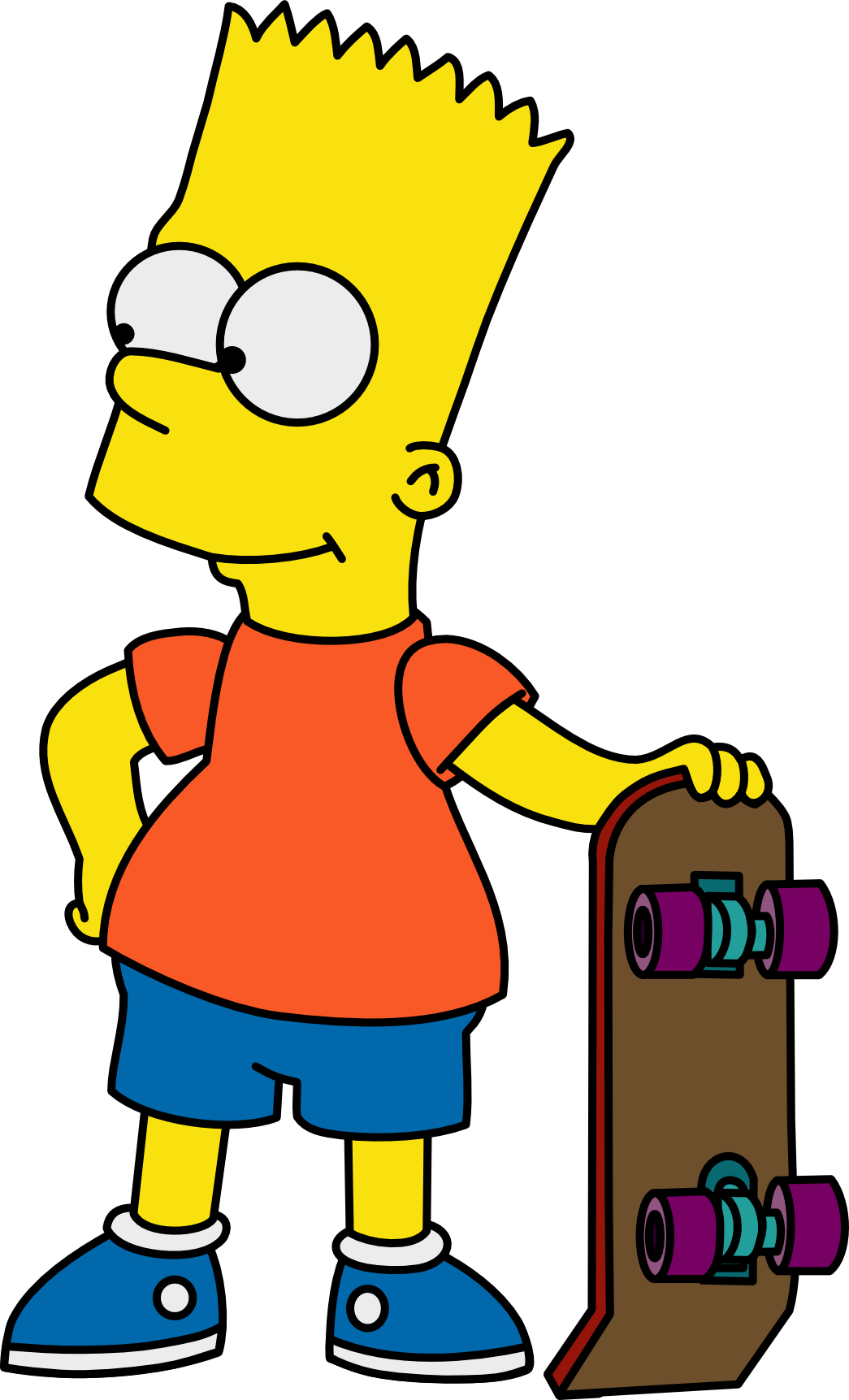 Bart with his Skateboard by Mighty355.deviantart.com on @DeviantArt ...