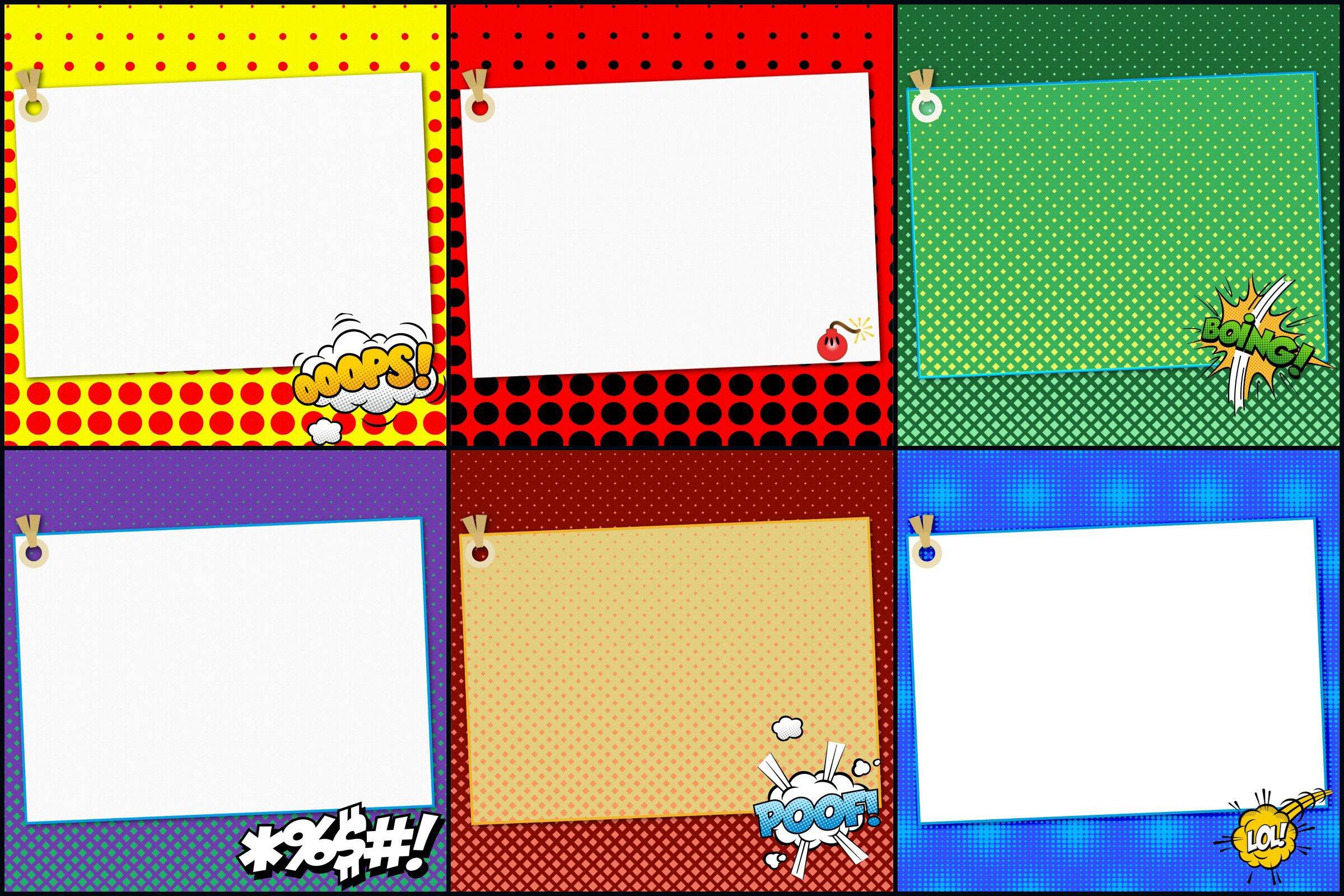 Superhero Comic Notebook Digital Papers By Me And Ameli