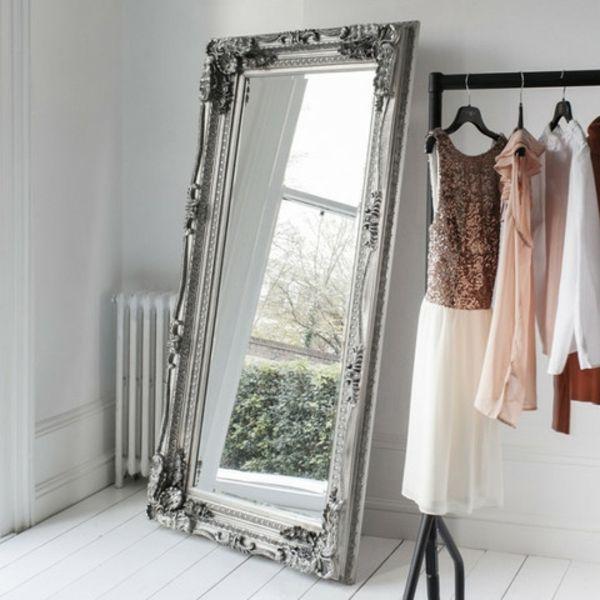magnifique grand miroir argent d co int rieur en 2019 miroir miroir baroque et grand miroir. Black Bedroom Furniture Sets. Home Design Ideas