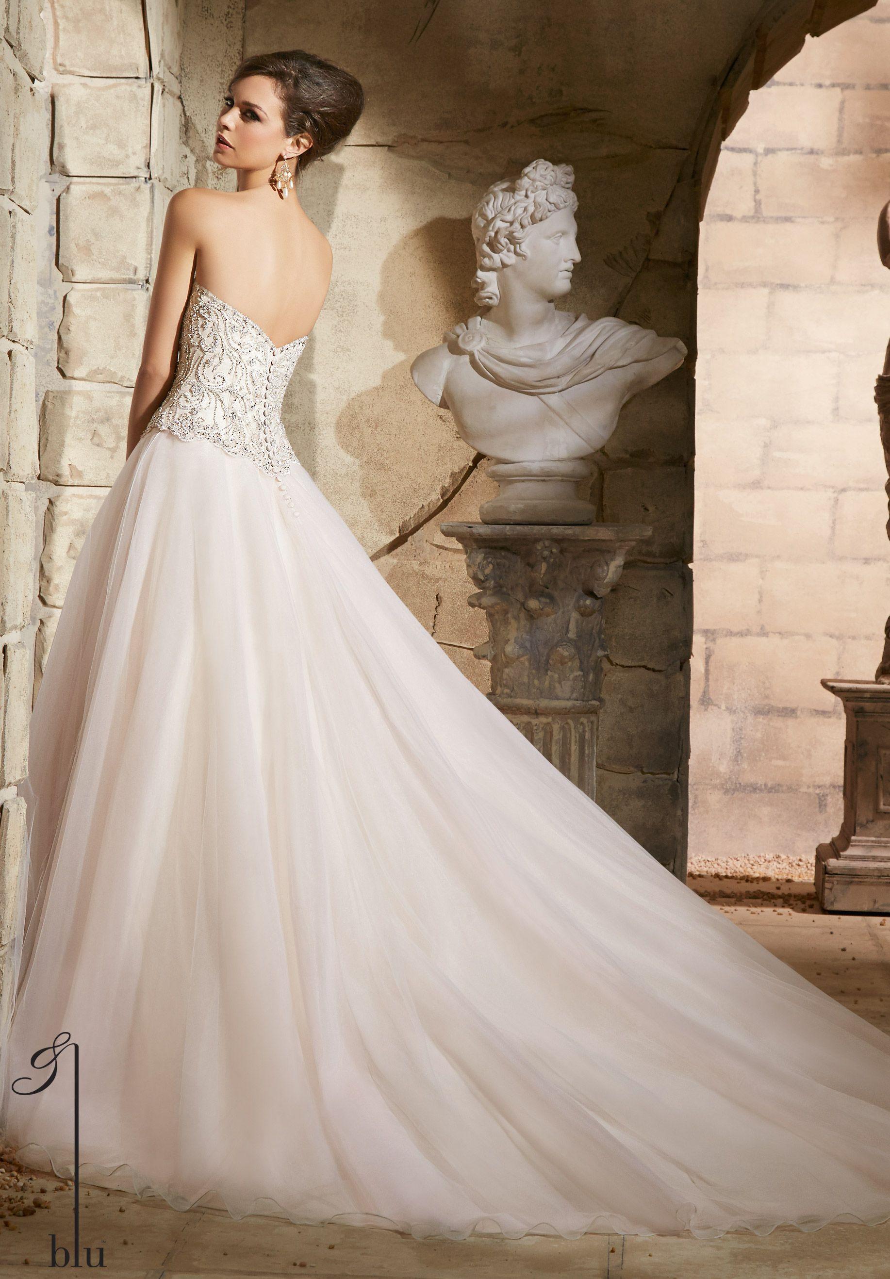 Wedding bridal gowns designer blu dress style 5373