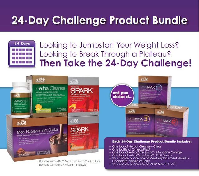 Lose up to 20 lbs in 24 Days with the Advocare 24 Day ...