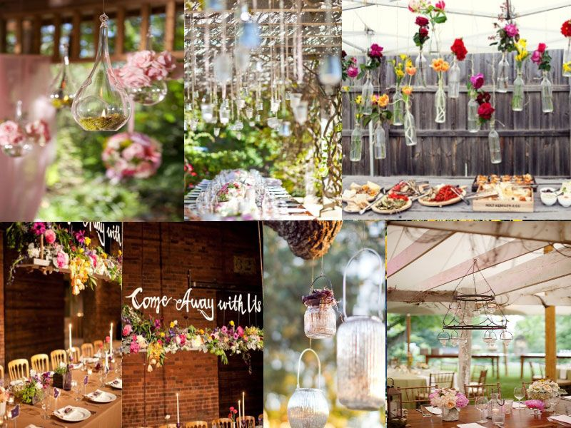 Hanging Lanterns Or Flowers Decoration Table Mariage Ve