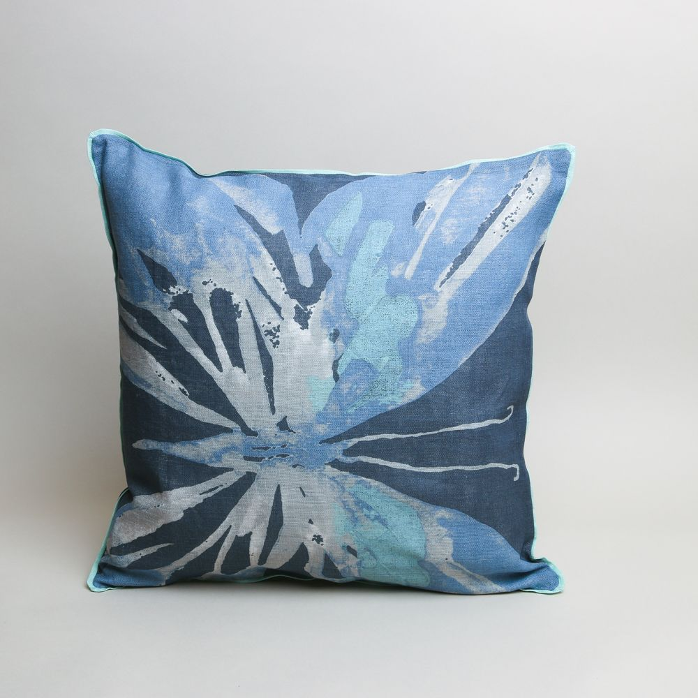 Pure linen cushion by broste copenhagen featuring an abstract