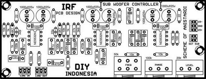 PCB Layout Schematic Subwoofer Controller | k | Pinterest | Circuit ...