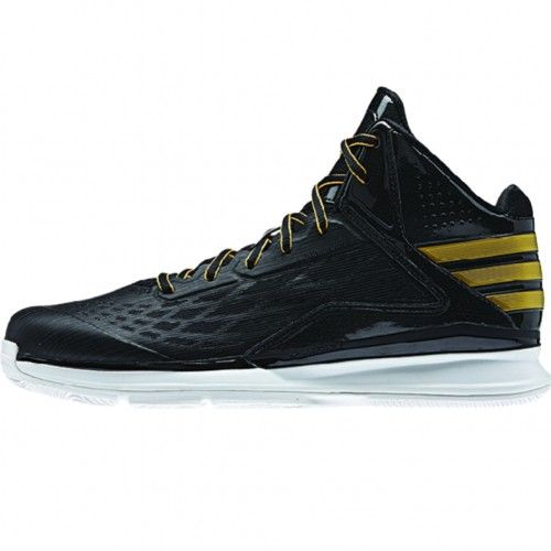 Adidas Transcend Mens Basketball Shoe C75568 Black-Gold-Black