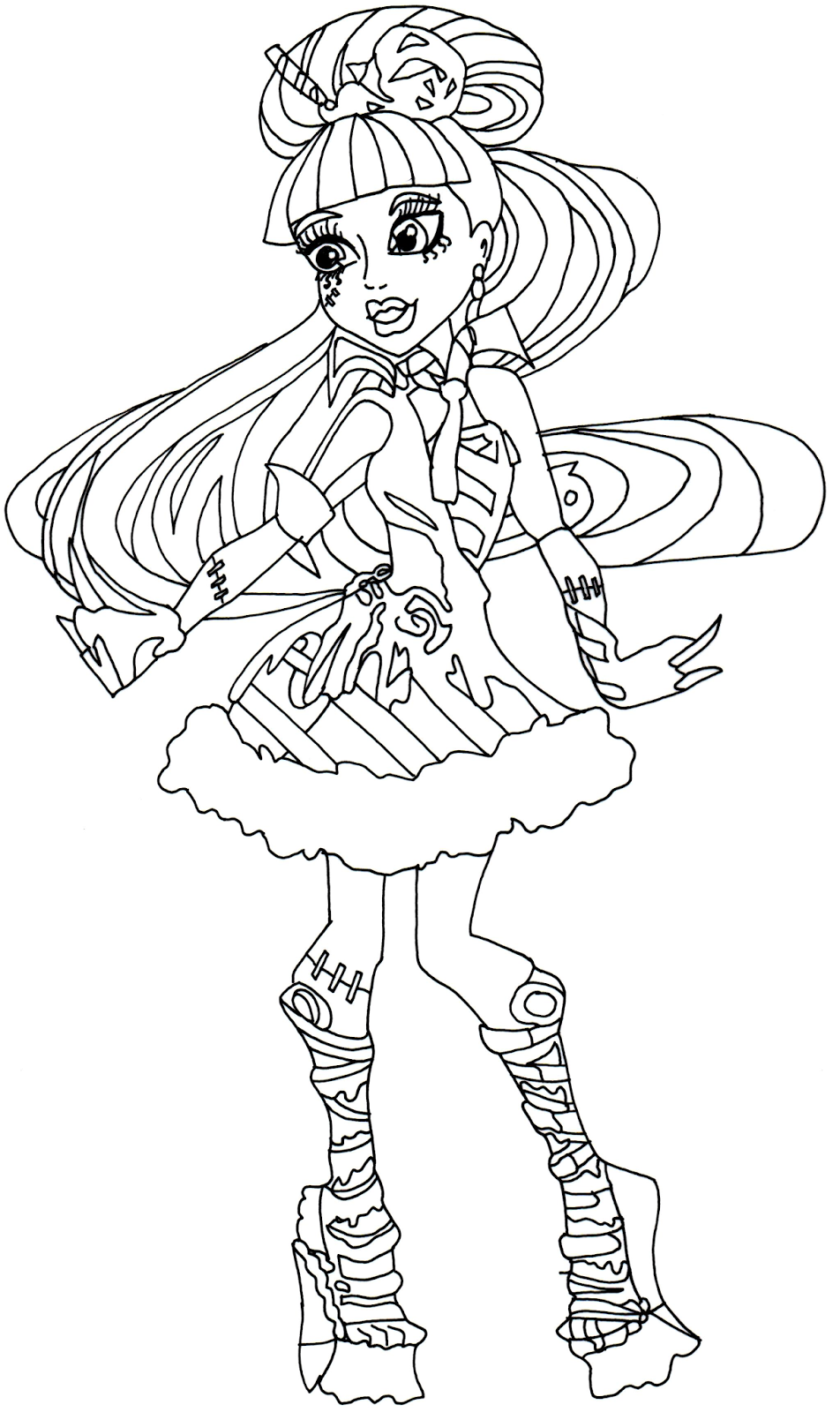 Ausmalbilder Monster High Kostenlos : Monster High Free Printables Frankie Stein Sweet Screams Monster