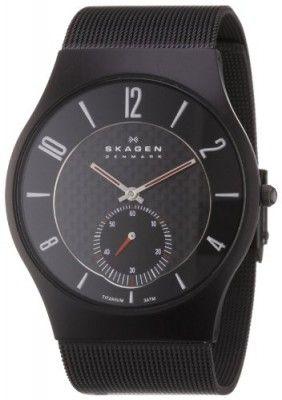 83bbbf630387d Relógio Skagen Men s 805XLTBB Sports Black Titanium Case on Mesh Watch   Relogio  Skagen