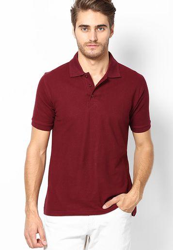 35586a98 Hanburry Wine Color Half Sleeve Polo T Shirt (Size : L) | Jabong ...