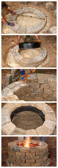 una Parrilla circular - puede ser fogata