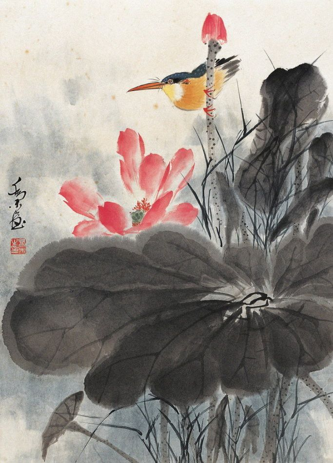 Masterqiaomu Chineseinkpainting Watercolor Asianbrushpainter