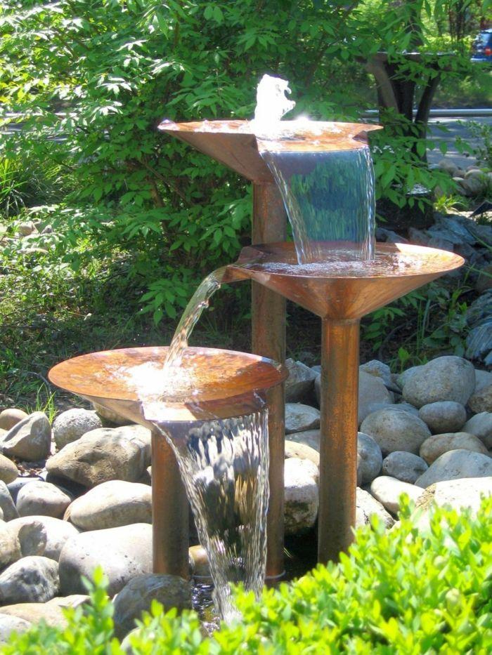 Garten Gestaltung - Ideen mit optischen Illusionen und andere - brunnen garten stein