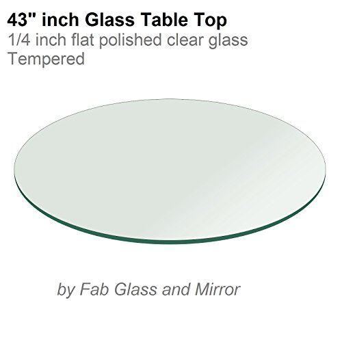 Round Glass Table Top 14 Thick Flat Polished Tempered 43 L X 43 W Click On The Image For Ad Round Glass Table Top Round Glass Table Tempered Glass Table Top