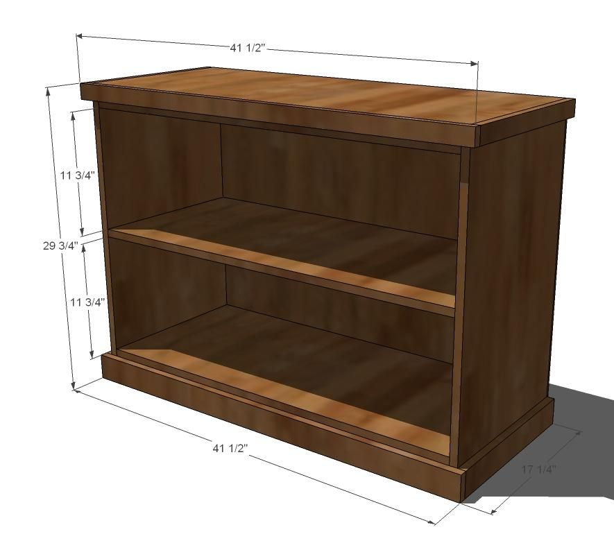 Ana White Build a Build Your Own Office - Wide Bookcase Base