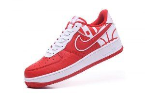 27b7051e7b9d Mens Womens Nike Air Force 1 07 LV8 University Red White University Red  823511 608 Casual