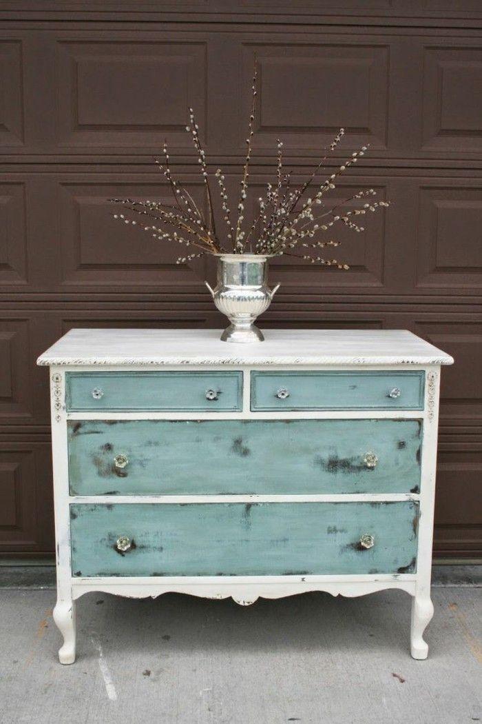 charmante inspirationen f r alle die gerne vintage m bel selber machen blau und wei tisch. Black Bedroom Furniture Sets. Home Design Ideas